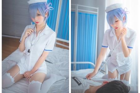 蕾姆护士装@Coser面饼仙儿【168M】