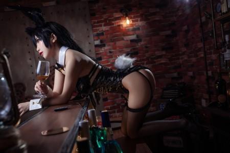 鬼畜瑶 - 黑色同人兔女郎