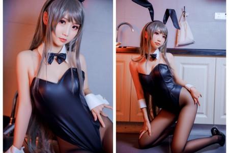 面饼仙儿 - 樱岛麻衣 黑丝兔女郎