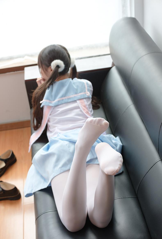 森萝财团 X-037 双马尾萝莉JK白丝 腿控福利【74P】 6