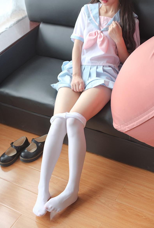 森萝财团 X-037 双马尾萝莉JK白丝 腿控福利【74P】 8