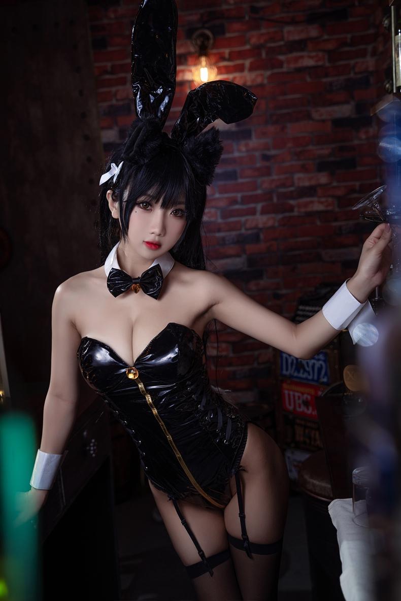 鬼畜瑶 - 黑色同人兔女郎 2