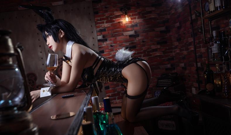 鬼畜瑶 - 黑色同人兔女郎 3