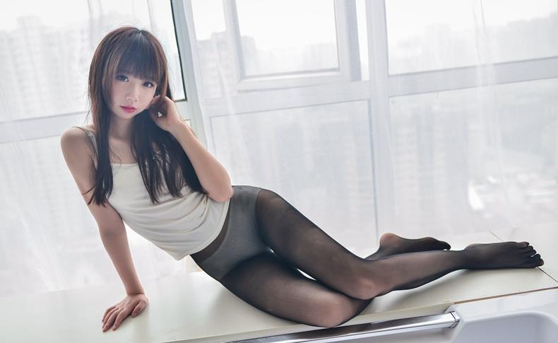 [雪琪SAMA]白色纯棉吊带 1