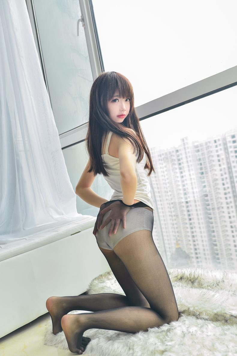 [雪琪SAMA]白色纯棉吊带 4