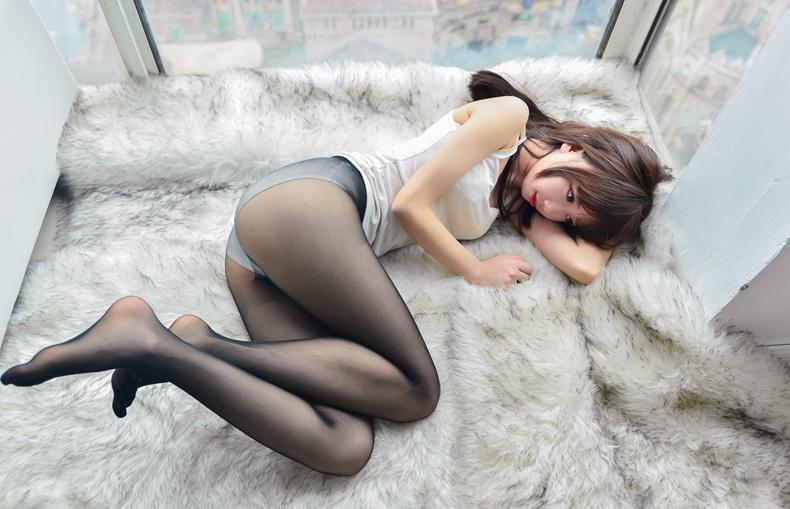 [雪琪SAMA]白色纯棉吊带 6